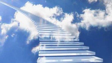 Stairway glass 01 — Stock Video