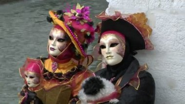 Venetian mask — Stock Video