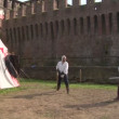 Medieval sword duel — Stock Video #24880865