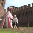 Medieval sword duel — Stock Video #24883595