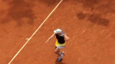 Girl tennis play — Stock Video