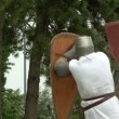 Fighting medieval knights — Stock Video