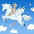 Stock Photo: Pegasus and boy