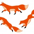 Three red foxes — Vettoriale Stock #14641039