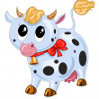 Funny cow — Stock Vector