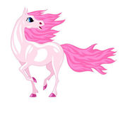 Magical horse with a pink mane — Stock Vector