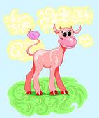 Cartoon baby cow — Stock Vector