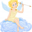 Stock Vector: Cupid with arrow