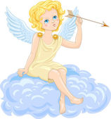 Cupid with arrow — Stockvector