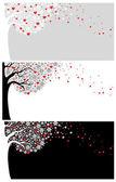 爱情背景 — 图库矢量图片