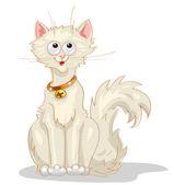 White Cat — Stock Vector
