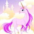 Pink unicorn — Stock Vector