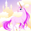 Stock Vector: Pink unicorn