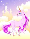 Pembe unicorn — Stok Vektör