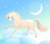 White unicorn — Stock Vector