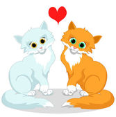 Happy cats in love — Vector de stock