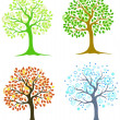 Four trees — Stock Vector