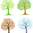 Four trees — Stock Vector #21200215