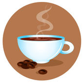 Hot cup of coffee — Stock Vector