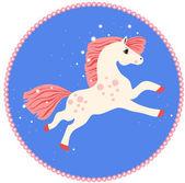Course de cheval blanc — Vecteur