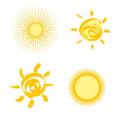 Set of stylized sun — Stock Vector