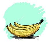 Vector illustration of a bunch of bananas  — Stock Vector