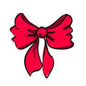 Vector illustration of a pink bow — Vettoriale Stock