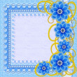 Beautiful flower blue pattern — Stock Photo