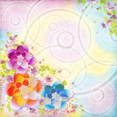 Flower colorful background — Stock Vector