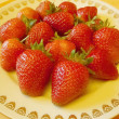 Dish with Strawberry — Stock Photo