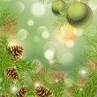 Сhristmas tree with spheres — Stock Photo