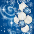 Beautiful New Year's and christmas background with spheres and stars — Stock Photo #17440121