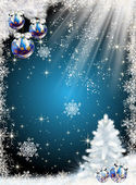 Сhristmas tree with with balls — Stock Photo