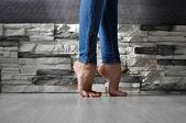 Woman's feet — Stock Photo