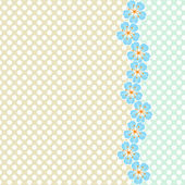 Vector background with floral border — Stock Vector