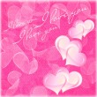 Valentines and wedding background with hearts and flowers — Stock Photo #18625277