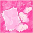 Stock Photo: Valentines and wedding background with hearts and flowers