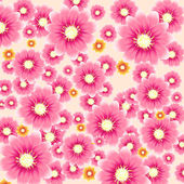 Vector pink floral background — Stock Vector
