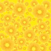 Vector zon floral achtergrond — Stockvector