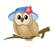 Fabulous owl — Stock Vector