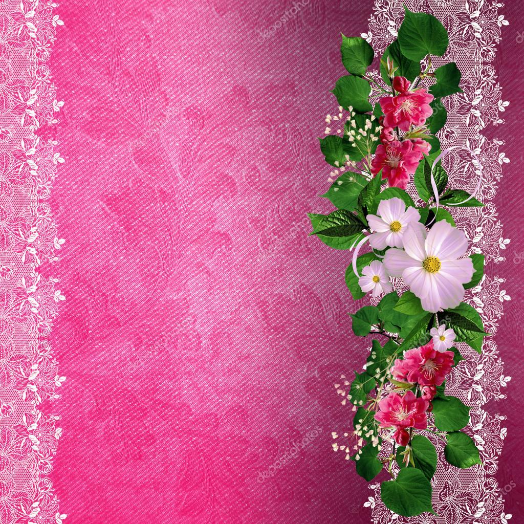 Wedding Invitation Background Designs Pink – Wedding ...
