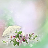Beautiful floral abstract background — Stock Photo