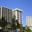 Hotels in Waikiki - Stock Photo