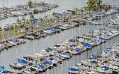 Honolulu yacht harbor — Stock Photo