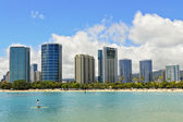 Ala moana beach, oahu, hawaii — Stock Photo