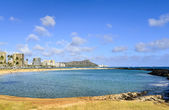 Magic Island in Honolulu — Stock Photo