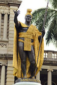 Král kamehameha socha — Stock fotografie