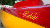 Outrigger canoe in waikiki — Stock Photo