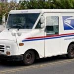 Postal truck — Stock Photo