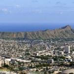 Honolulu and diamond head — Stock Photo #13262837